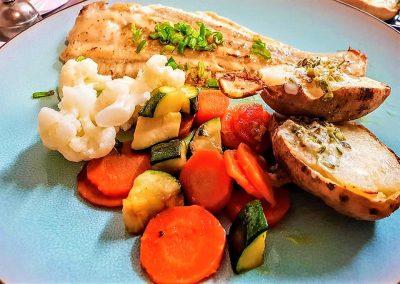 Limande accompagement légumes frais
