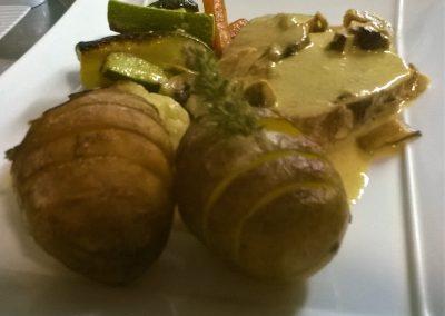 Mignon de porc, crème champignons